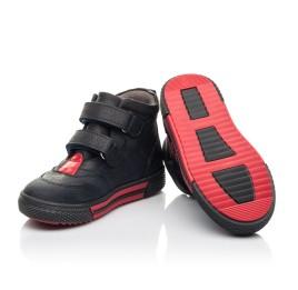Детские демисезонные ботинки Woopy Fashion темно-синие для мальчиков натуральный нубук размер 22-22 (4360) Фото 2