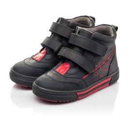 Детские демисезонные ботинки Woopy Fashion темно-синие для мальчиков натуральный нубук размер 22-33 (4360) Фото 3