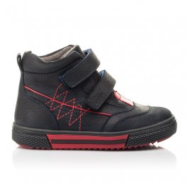 Детские демисезонные ботинки Woopy Fashion темно-синие для мальчиков натуральный нубук размер 22-33 (4360) Фото 4