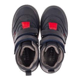 Детские демисезонные ботинки Woopy Fashion темно-синие для мальчиков натуральный нубук размер 22-22 (4360) Фото 5