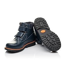 Детские демисезонные ботинки Woopy Fashion синие для мальчиков натуральная кожа размер 26-31 (4361) Фото 2