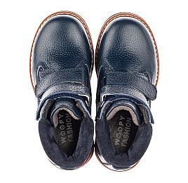 Детские демисезонные ботинки Woopy Fashion синие для мальчиков натуральная кожа размер 26-36 (4361) Фото 5