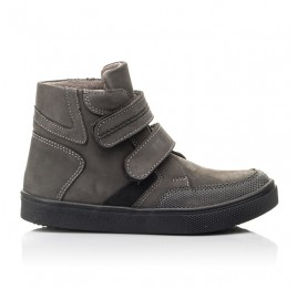 Детские демисезонные ботинки Woopy Fashion серые для мальчиков натуральный нубук размер 21-26 (4362) Фото 4