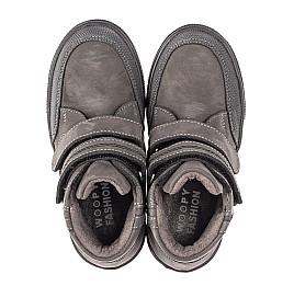 Детские демисезонные ботинки Woopy Fashion серые для мальчиков натуральный нубук размер 21-32 (4362) Фото 5