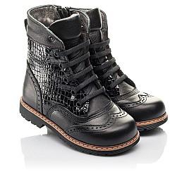 Детские демисезонные ботинки Woopy Fashion черные для девочек натуральная кожа размер 20-39 (4363) Фото 1