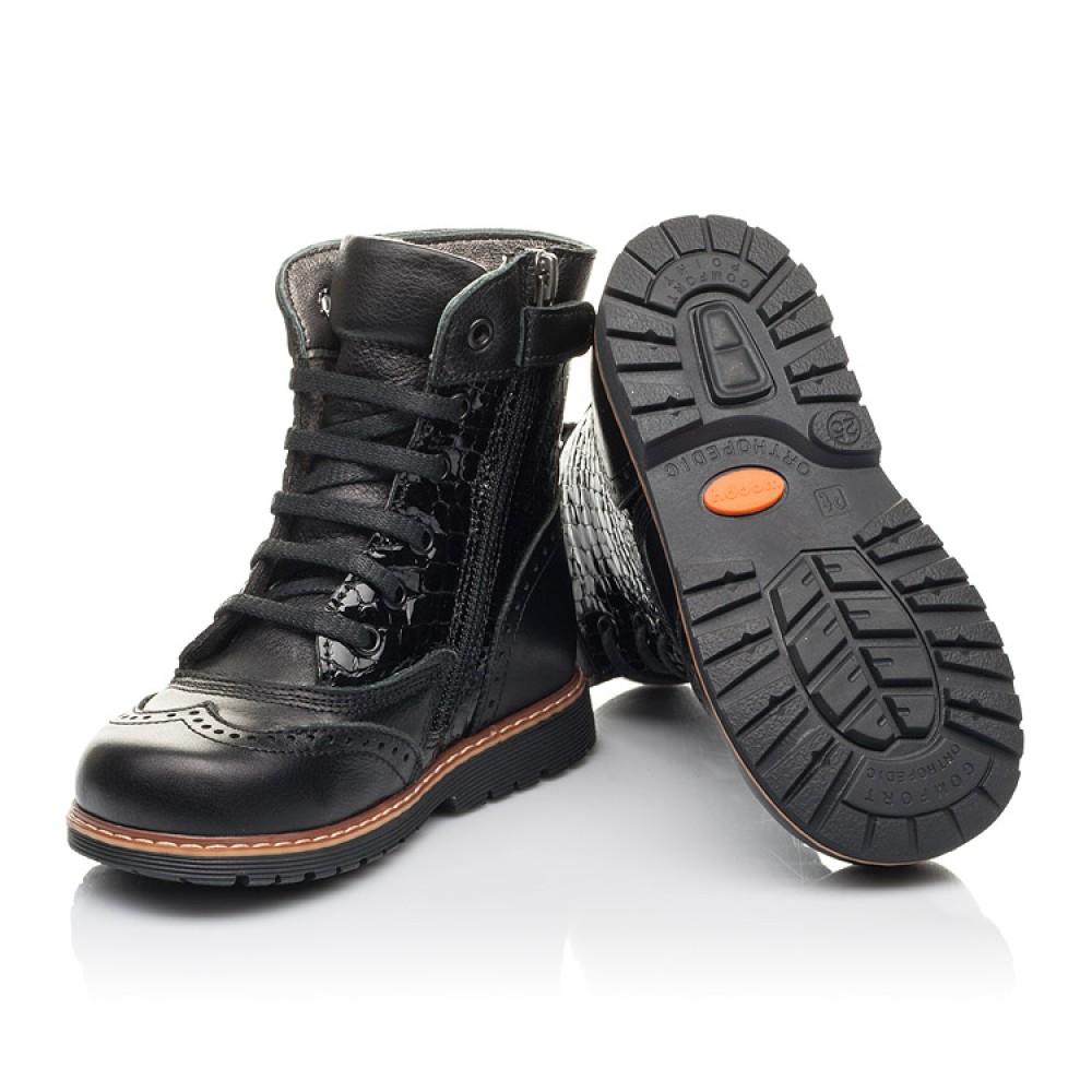 Детские демисезонные ботинки Woopy Fashion черные для девочек натуральная кожа размер 20-39 (4363) Фото 2