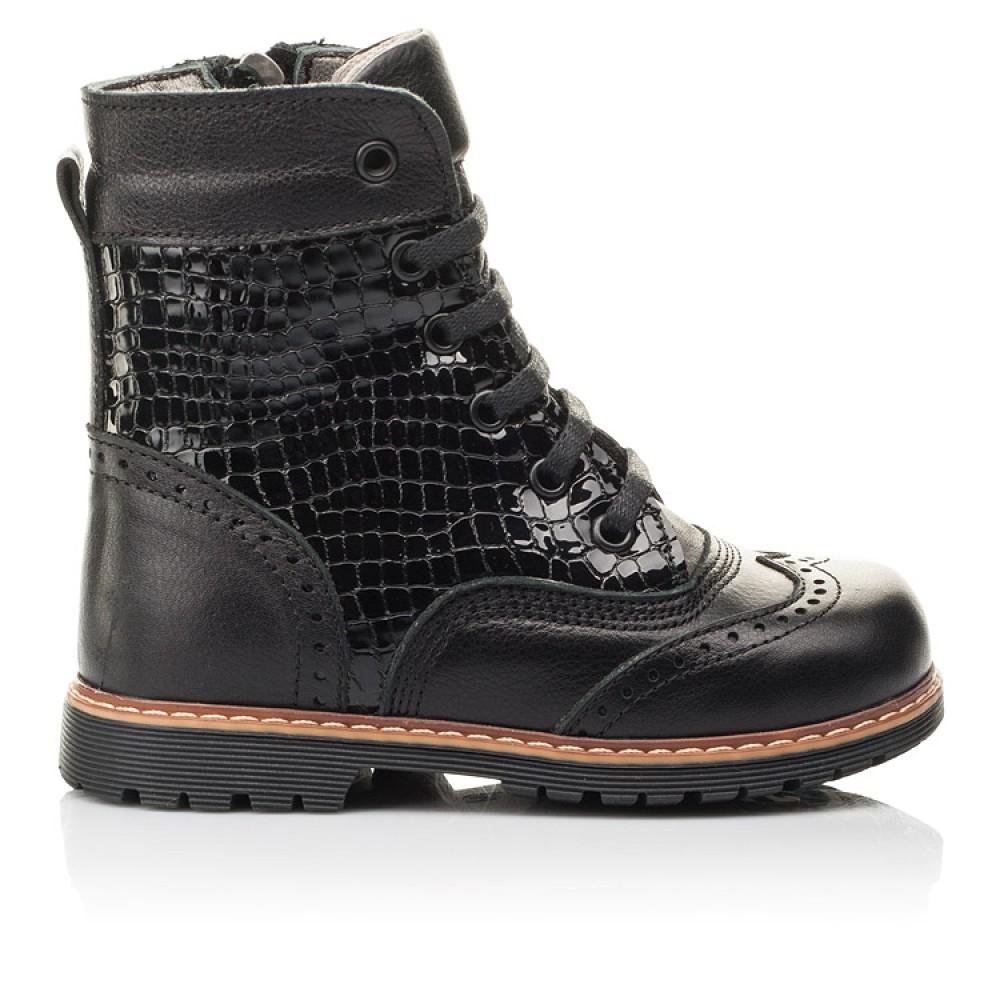 Детские демисезонные ботинки Woopy Fashion черные для девочек натуральная кожа размер 20-39 (4363) Фото 3