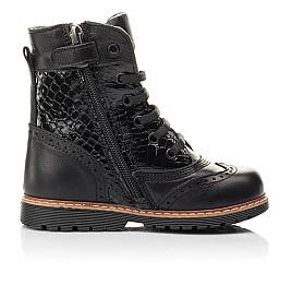 Детские демисезонные ботинки Woopy Fashion черные для девочек натуральная кожа размер 20-39 (4363) Фото 4