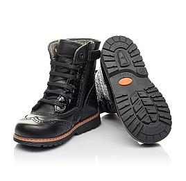 Детские демисезонные ботинки Woopy Fashion черные для девочек натуральная кожа размер 20-39 (4363) Фото 5