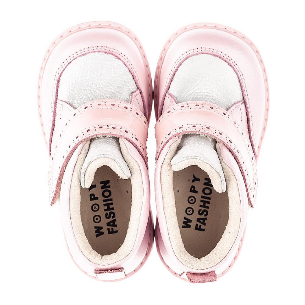 Детские демисезонные ботинки Woopy Fashion розовые для девочек натуральная кожа и нубук размер 20-28 (4365) Фото 5