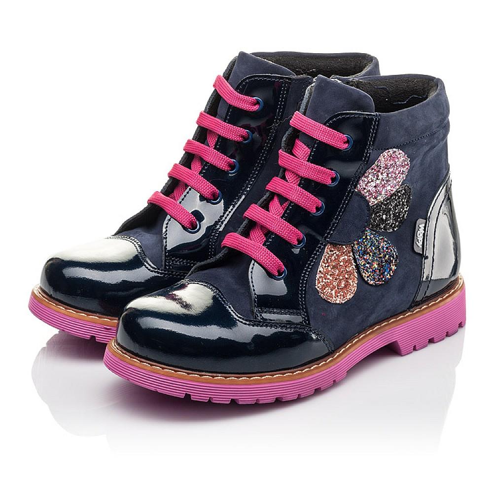 Детские демисезонные ботинки Woopy Fashion серые для девочек натуральный нубук, лаковая кожа размер 31-36 (4367) Фото 3