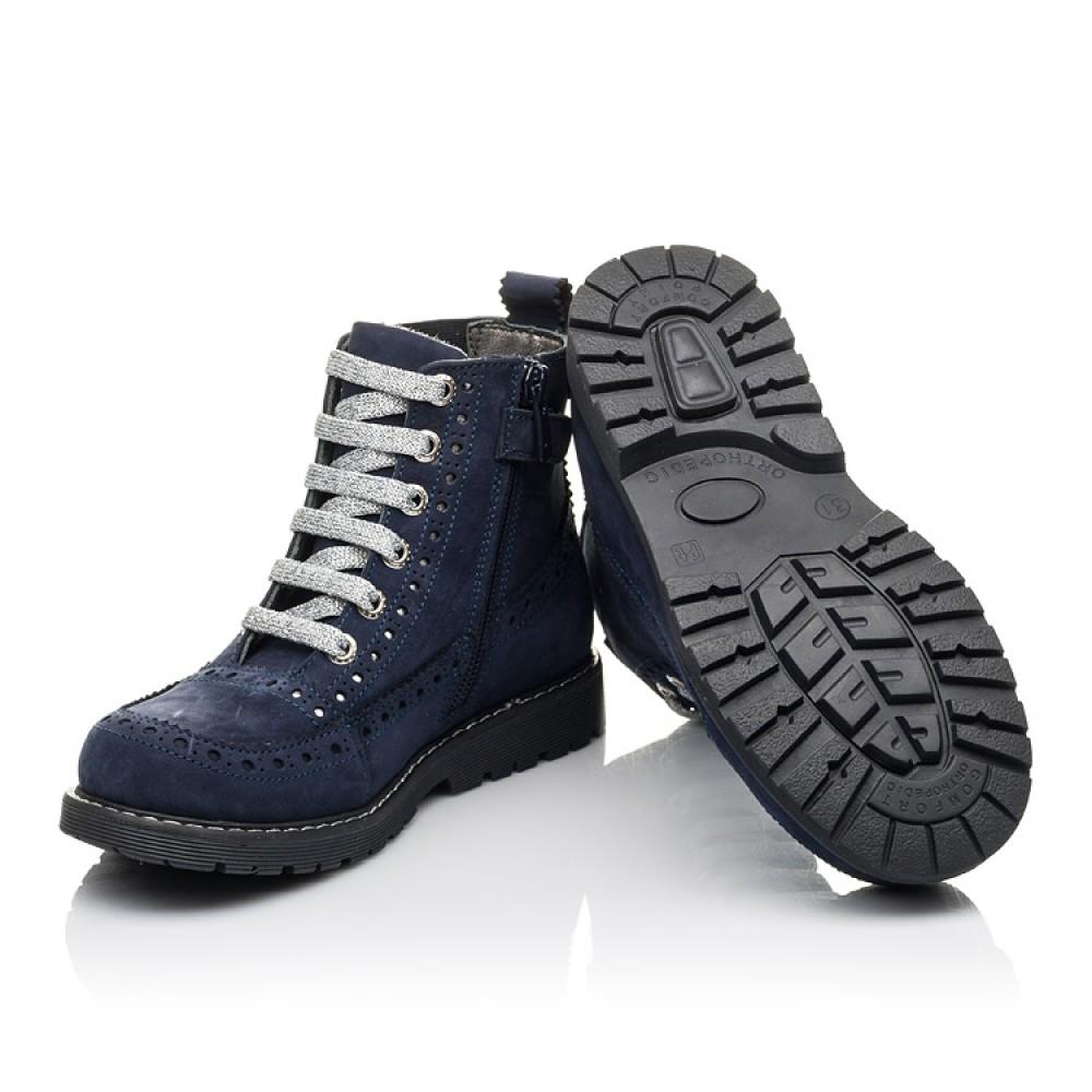 Детские демисезонные ботинки Woopy Fashion синие для девочек натуральный нубук размер 27-39 (4368) Фото 2