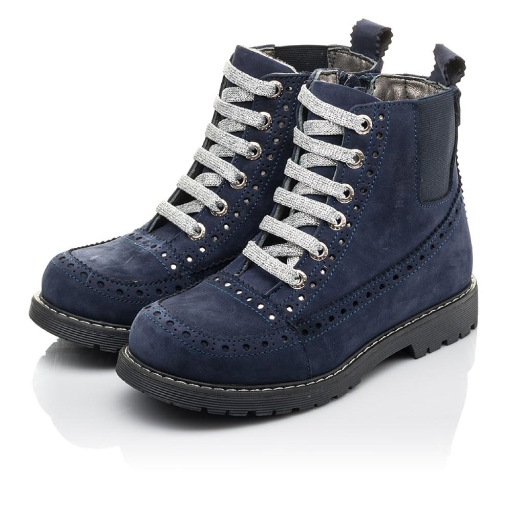 Детские демисезонные ботинки Woopy Fashion синие для девочек натуральный нубук размер 27-39 (4368) Фото 3