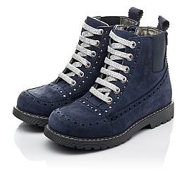 Детские  Woopy Fashion синие для девочек натуральный нубук размер 27-39 (4368) Фото 3