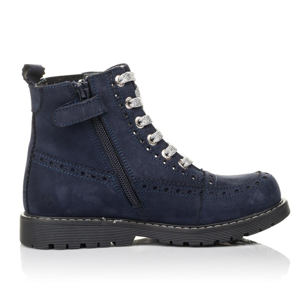 Детские демисезонные ботинки Woopy Fashion синие для девочек натуральный нубук размер 27-39 (4368) Фото 5