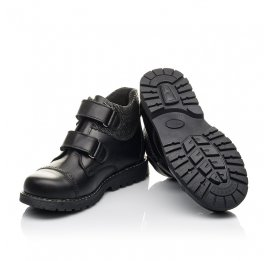 Детские  Woopy Fashion черные для девочек натуральная кожа размер 30-39 (4370) Фото 2