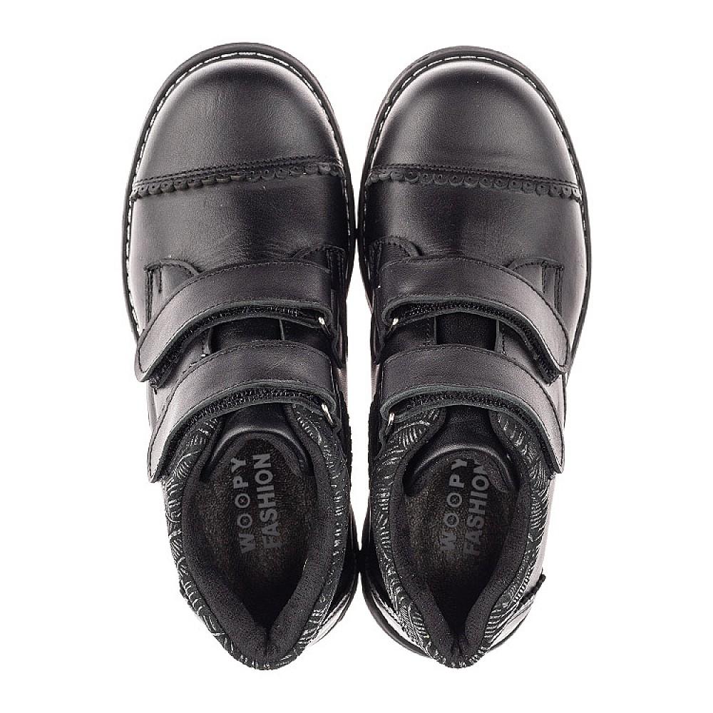Детские демисезонные ботинки Woopy Fashion черные для девочек натуральная кожа размер 30-39 (4370) Фото 5