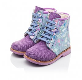 Детские демисезонные ботинки Woopy Fashion фиолетовые для девочек натуральный нубук размер 22-26 (4371) Фото 3