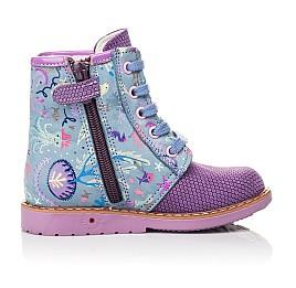 Детские демисезонные ботинки Woopy Fashion фиолетовые для девочек натуральный нубук размер 22-26 (4371) Фото 5