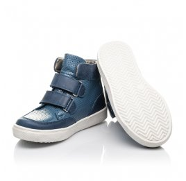 Детские демисезонные ботинки Woopy Fashion синие для мальчиков натуральная кожа размер 22-33 (4372) Фото 2