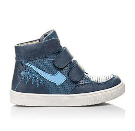 Детские демисезонные ботинки Woopy Fashion синие для мальчиков натуральная кожа размер 22-33 (4372) Фото 4