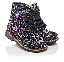 Детские демисезонные ботинки Woopy Fashion черные для девочек натуральный нубук размер 21-33 (4373) Фото 1