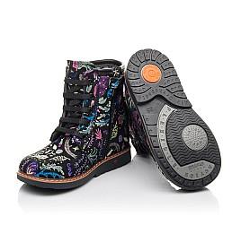 Детские демисезонные ботинки Woopy Fashion черные для девочек натуральный нубук размер 21-33 (4373) Фото 2