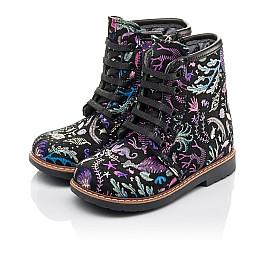 Детские демисезонные ботинки Woopy Fashion черные для девочек натуральный нубук размер 21-33 (4373) Фото 3