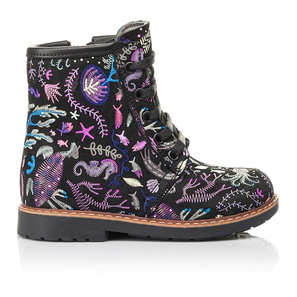 Детские демисезонные ботинки Woopy Fashion черные для девочек натуральный нубук размер 21-33 (4373) Фото 4