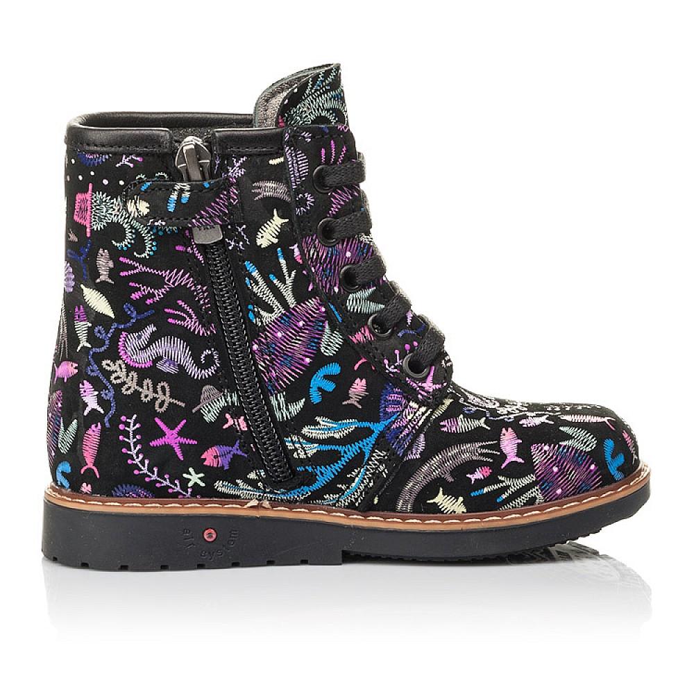 Детские демисезонные ботинки Woopy Fashion черные для девочек натуральный нубук размер 21-33 (4373) Фото 5