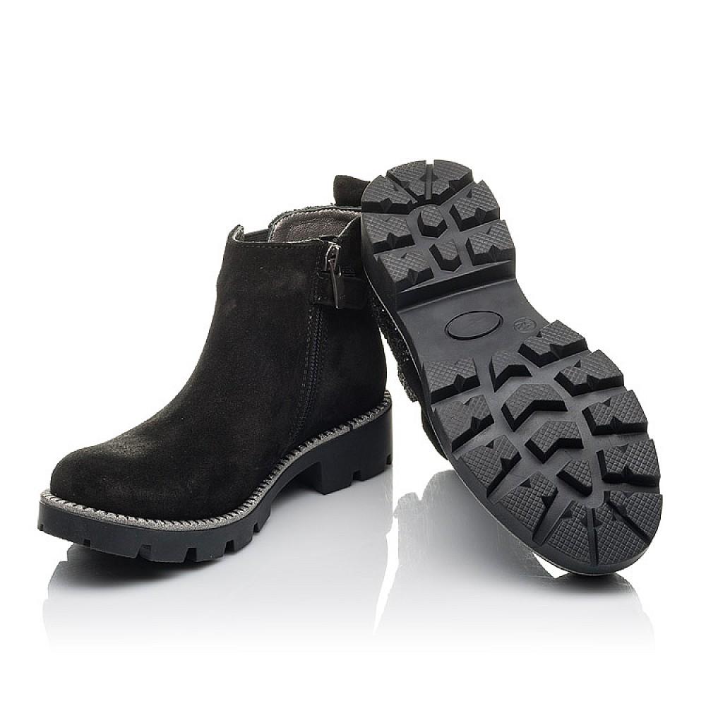 Детские демисезонные ботинки Woopy Fashion черные для девочек натуральная замша, текстиль размер 32-39 (4374) Фото 2