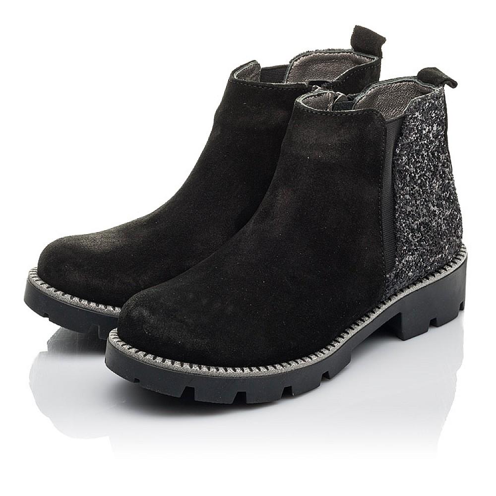 Детские демисезонные ботинки Woopy Fashion черные для девочек натуральная замша, текстиль размер 32-39 (4374) Фото 3