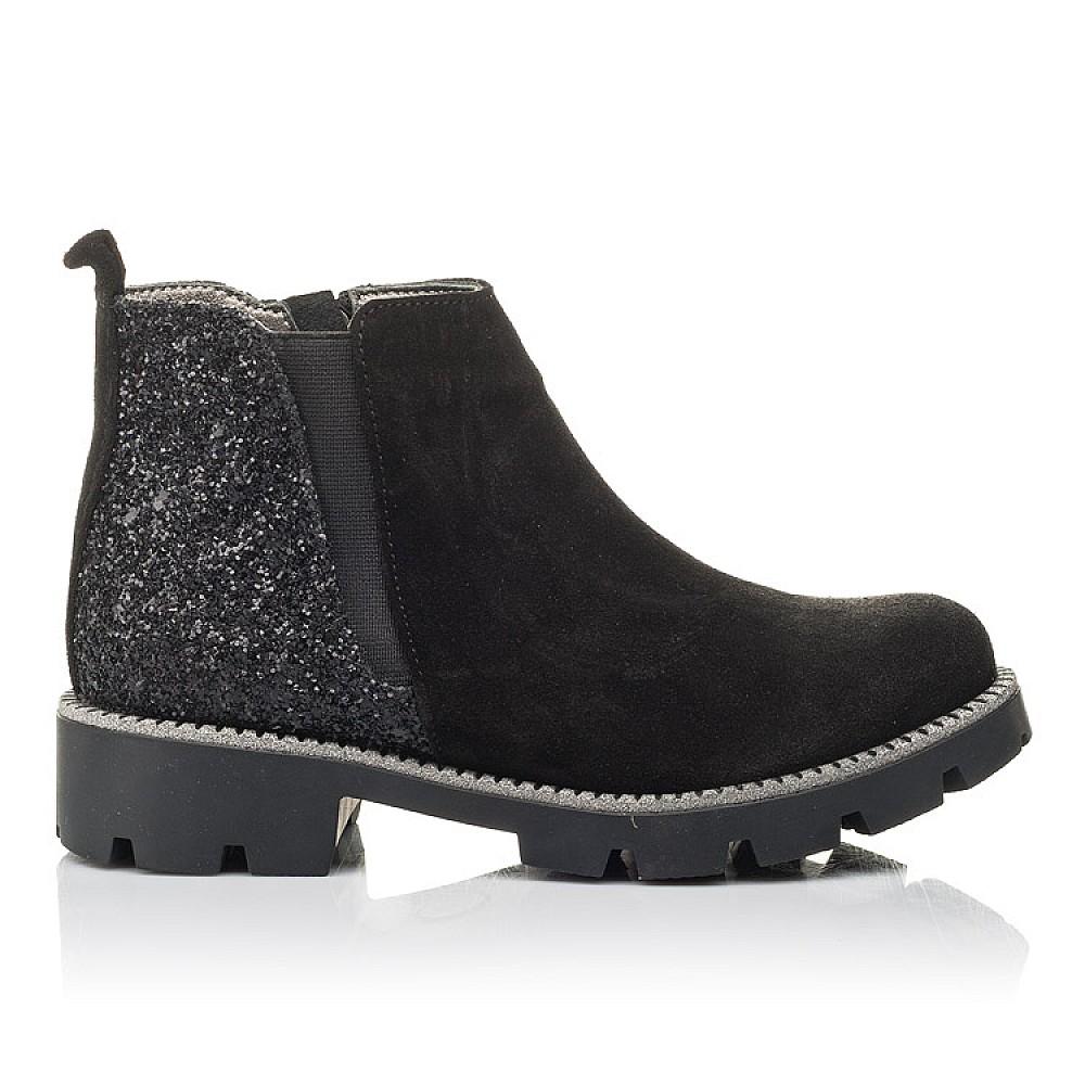 Детские демисезонные ботинки Woopy Fashion черные для девочек натуральная замша, текстиль размер 32-39 (4374) Фото 4