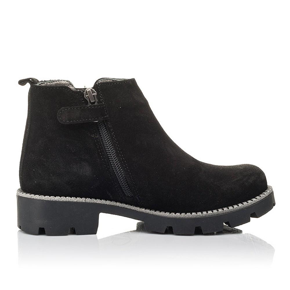 Детские демисезонные ботинки Woopy Fashion черные для девочек натуральная замша, текстиль размер 32-39 (4374) Фото 5