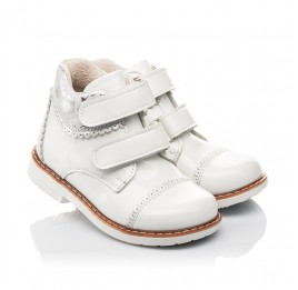 Детские  Woopy Fashion белые для девочек натуральная лаковая кожа размер 20-30 (4376) Фото 1
