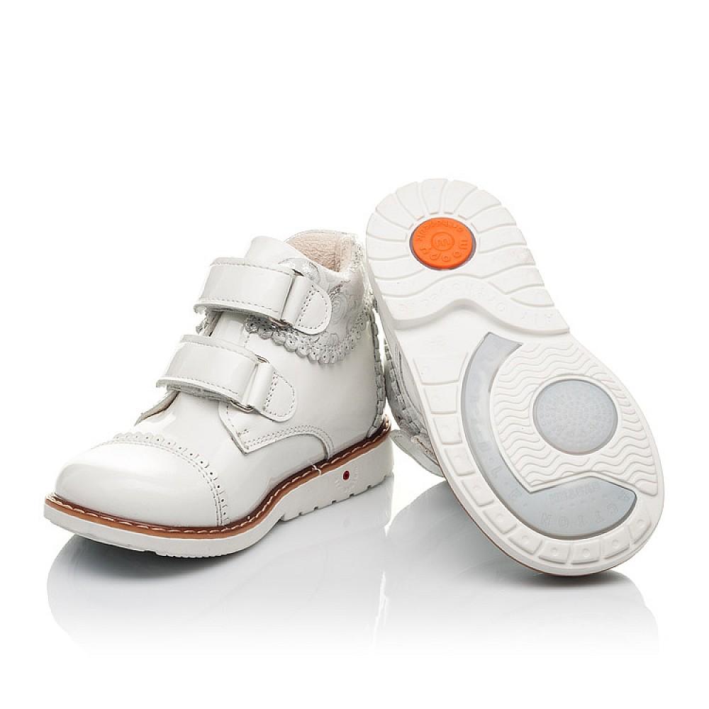 Детские демисезонные ботинки Woopy Fashion белые для девочек натуральная лаковая кожа размер 20-30 (4376) Фото 2