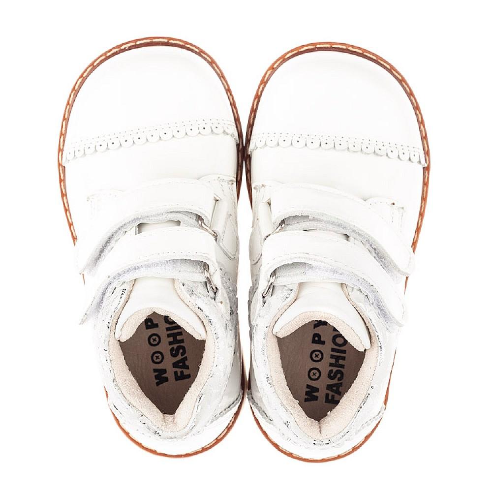 Детские демисезонные ботинки Woopy Fashion белые для девочек натуральная лаковая кожа размер 20-30 (4376) Фото 5
