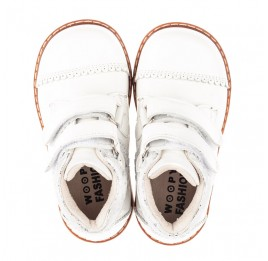 Детские  Woopy Fashion белые для девочек натуральная лаковая кожа размер 20-30 (4376) Фото 5