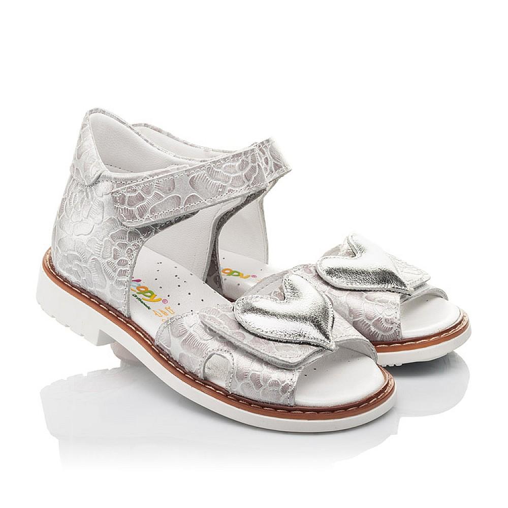 Детские босоножки Woopy Fashion белый для девочек натуральный нубук размер 27-36 (4377) Фото 1