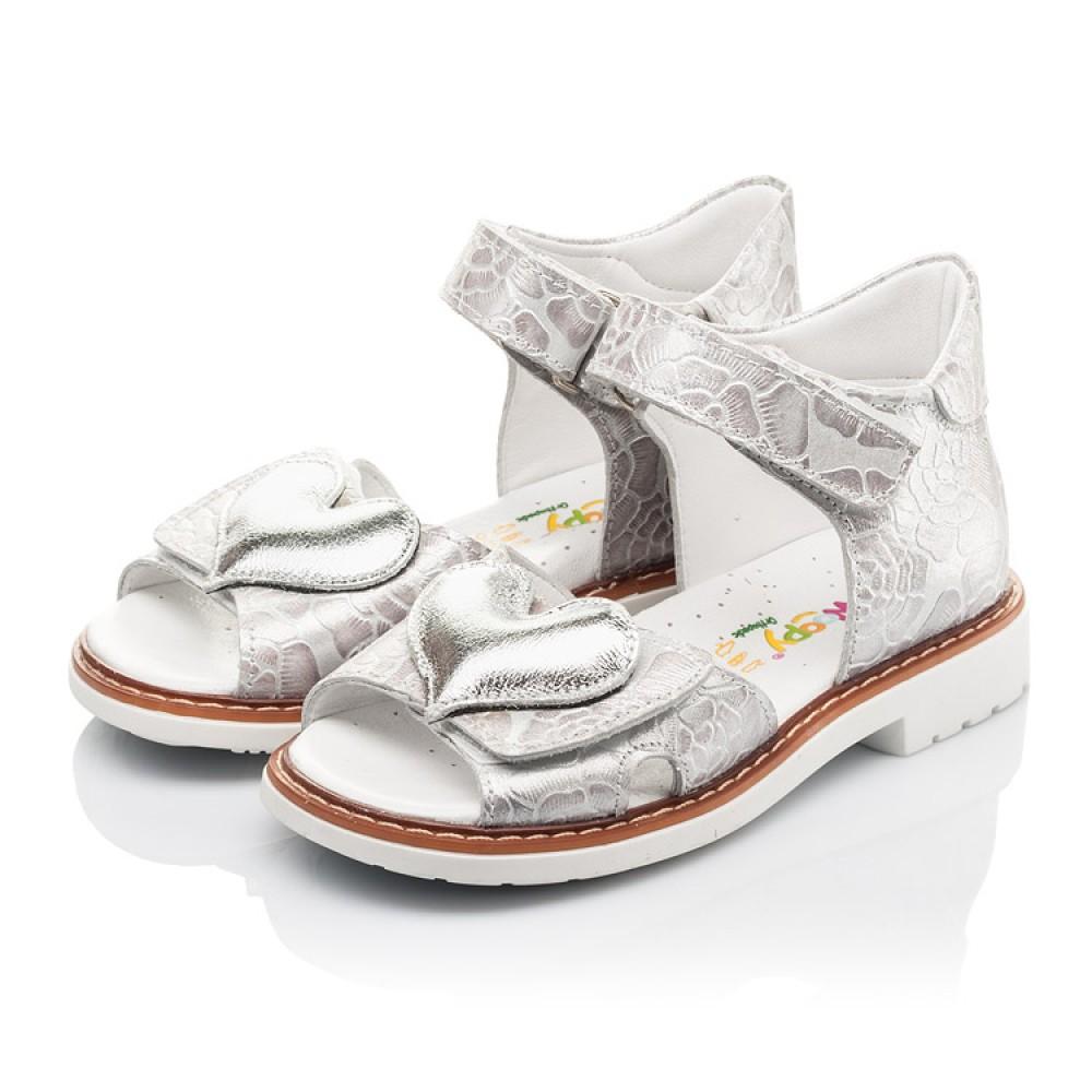 Детские босоножки Woopy Fashion белый для девочек натуральный нубук размер 27-36 (4377) Фото 3