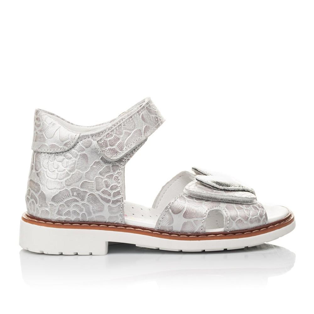 Детские босоножки Woopy Fashion белый для девочек натуральный нубук размер 27-36 (4377) Фото 4