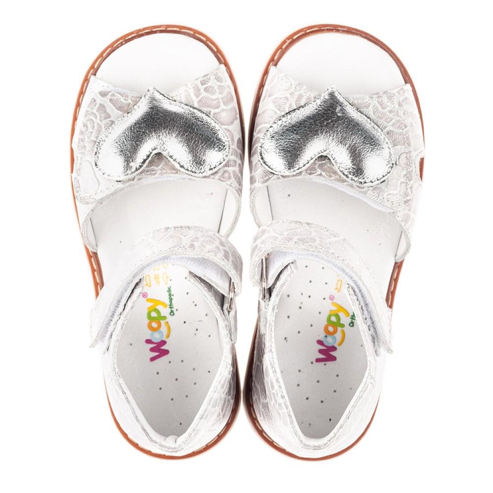 Детские босоножки Woopy Fashion белый для девочек натуральный нубук размер 27-36 (4377) Фото 5