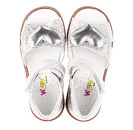 Детские босоножки Woopy Fashion белый для девочек натуральный нубук размер 28-36 (4377) Фото 5