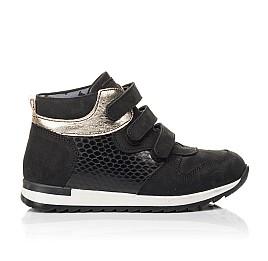 Детские демисезонные ботинки Woopy Fashion черные для девочек натуральный нубук, лаковая кожа размер 29-39 (4378) Фото 4