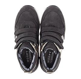 Детские демисезонные ботинки Woopy Fashion черные для девочек натуральный нубук, лаковая кожа размер 29-39 (4378) Фото 5