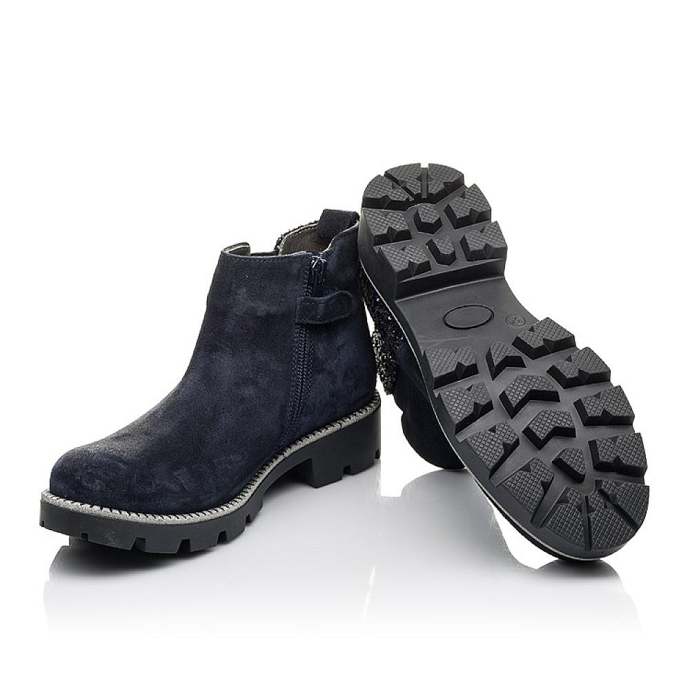 Детские демисезонные ботинки Woopy Fashion синие для девочек натуральная замша, текстиль размер 32-39 (4379) Фото 2