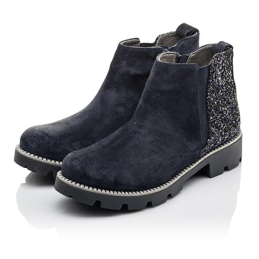 Детские демисезонные ботинки Woopy Fashion синие для девочек натуральная замша, текстиль размер 32-39 (4379) Фото 3