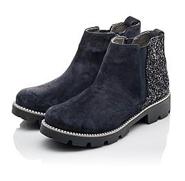 Детские демісезонні черевики Woopy Fashion синие для девочек натуральная замша, текстиль размер 39-39 (4379) Фото 3