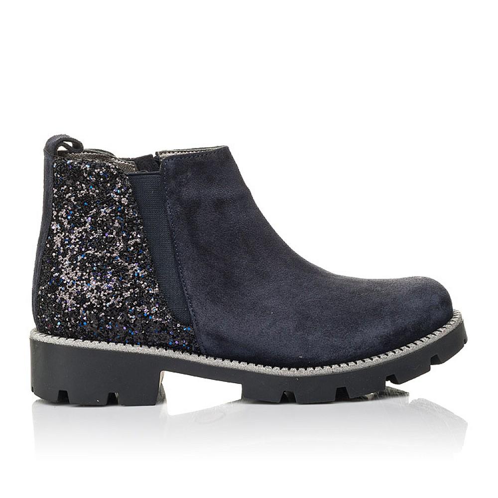 Детские демисезонные ботинки Woopy Fashion синие для девочек натуральная замша, текстиль размер 32-39 (4379) Фото 4