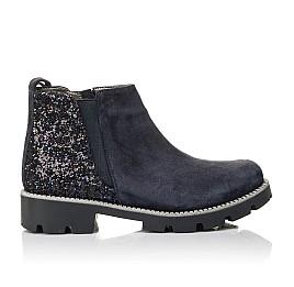 Детские демісезонні черевики Woopy Fashion синие для девочек натуральная замша, текстиль размер 39-39 (4379) Фото 4